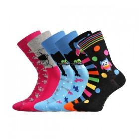 18a46a17711 DOBLE barevné ponožky Lonka - KOČKA - Ponožkožrout.cz - ponožky ...