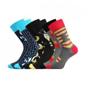 efc746c6b61 DOBLE barevné ponožky Lonka - FASTFOOD - Ponožkožrout.cz - ponožky ...