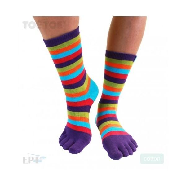 STRIPY prstové pruhované ponožky ToeToe - Ponožkožrout.cz - ponožky ... 9fd1eef367