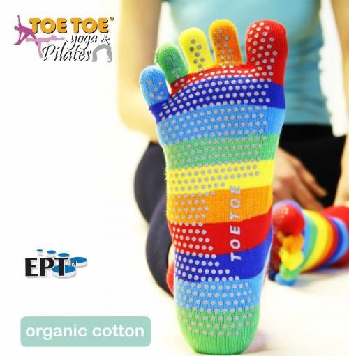 JOGA trainer stripy ABS protiskluzové prstové ponožky ToeToe