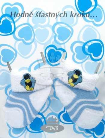 BABYK kojenecké froté ponožky